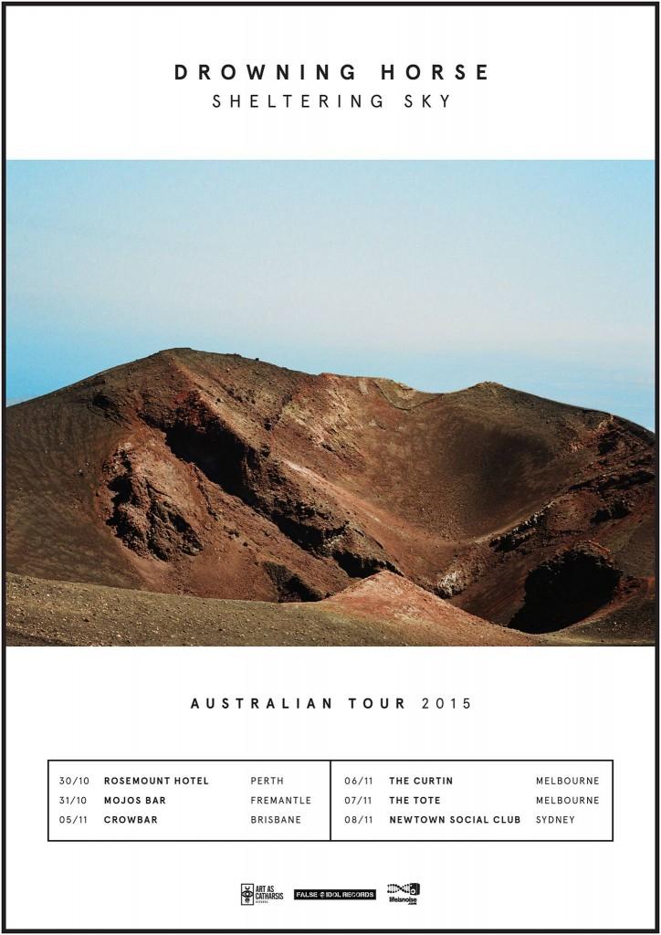 Drowning Horse Sheltering Sky Australian Album Tour