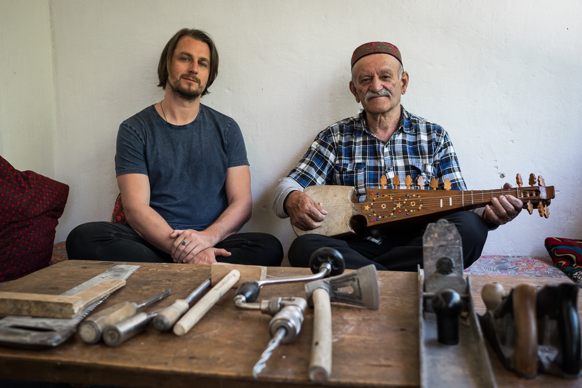 Lachlan Dale and Ustad Abdul Mohammad. Photo: Conor Ashleigh